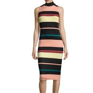 NWT Belle + Sky Striped Midi Scuba Dress Medium